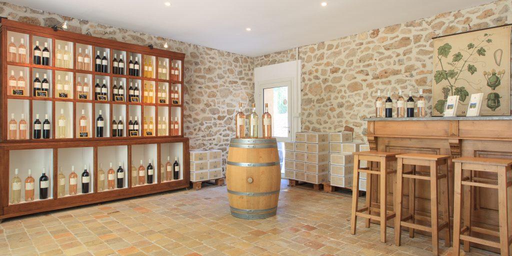 Caveau de dégustation vins de Provence