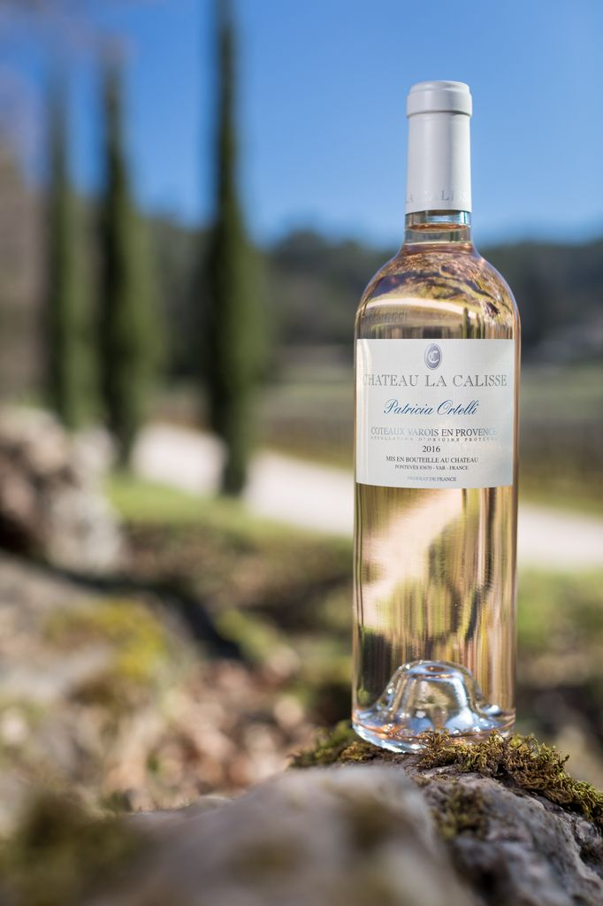 Organic French rosé wine